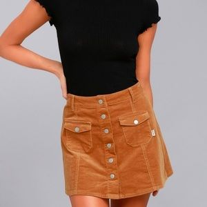 Dresses & Skirts - Rhythm corduroy button up skirt